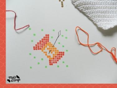 DIY Fanions en crochet brodé