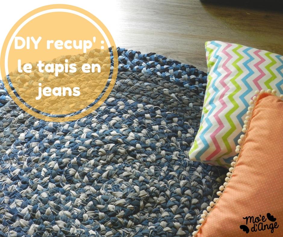 DIY tapis recyclé en jeans